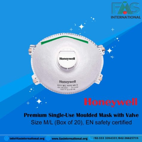 Honeywell Premium 5111 Single-Use Moulded Mask with Valve
