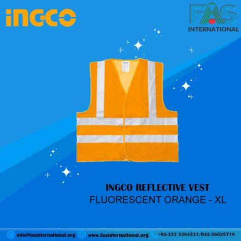 INGCO REFLECTIVE VEST FLUORESCENT ORANGE - XL